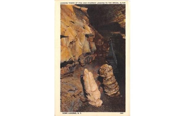 Leaning Tower of Pisa Howe Caverns, New York Postcard
