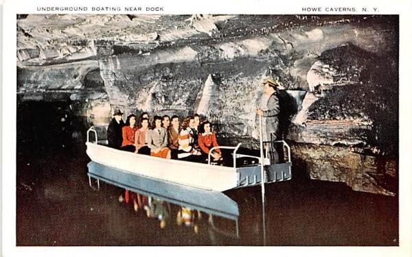 Underground Boating Howe Caverns, New York Postcard