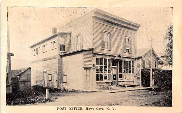 Post Office Howe Caverns, New York Postcard