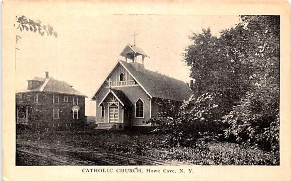 Catholic Church Howe Caverns, New York Postcard