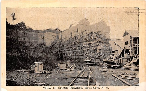 Stone Quarry Howe Caverns, New York Postcard