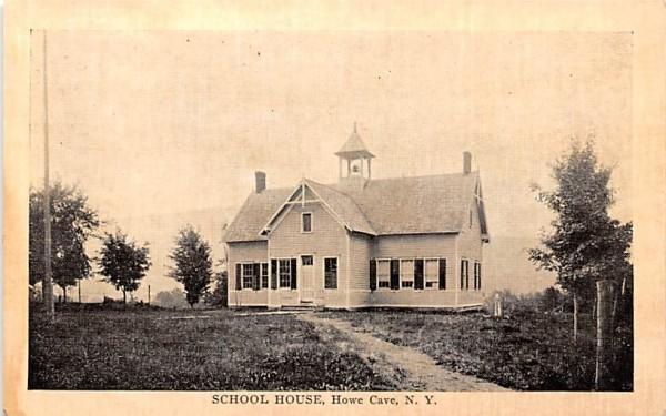 School House Howe Caverns, New York Postcard