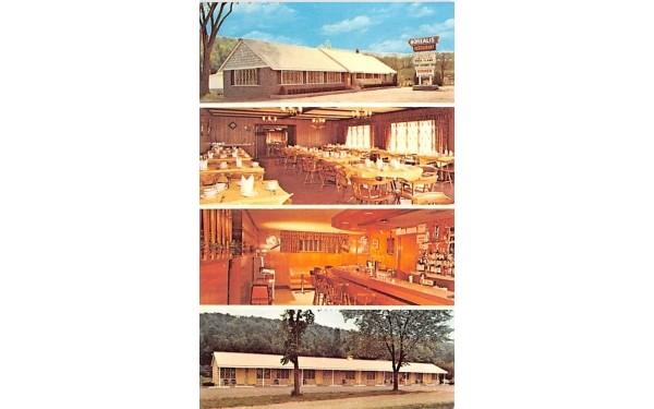 Boreali's Restaurant & Motel Howe Caverns, New York Postcard