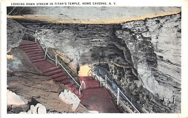 Titan's Temple Howe Caverns, New York Postcard