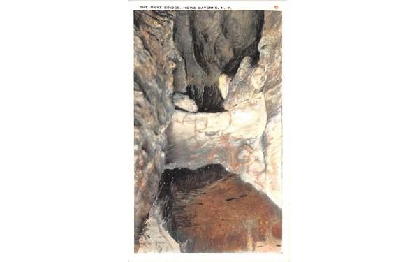Onyx Bridge Howe Caverns, New York Postcard