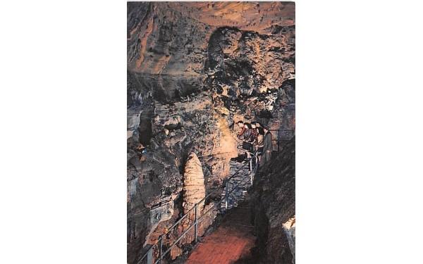 Balcony view of Titan's Temple Howe Caverns, New York Postcard