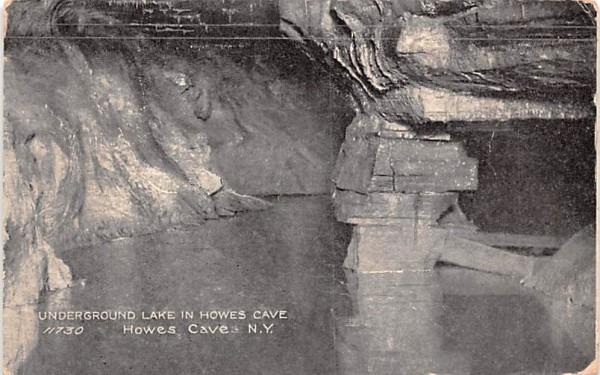 Underground Lake Howe Caverns, New York Postcard