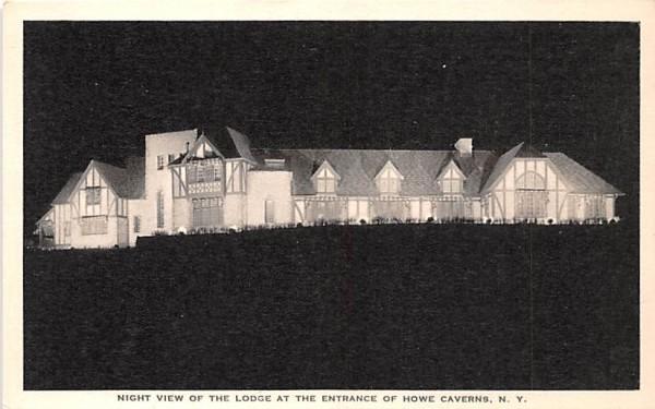 Lodge at Entrance Howe Caverns, New York Postcard