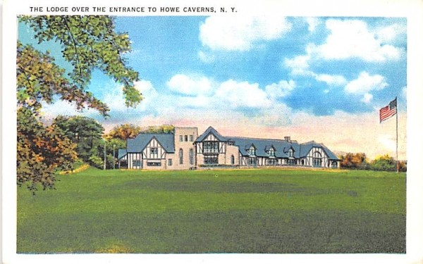 Lodge over the Entrance Howe Caverns, New York Postcard