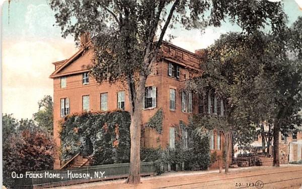 Old Folks Home Hudson, New York Postcard