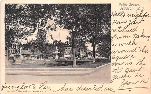 Public Square Hudson, New York Postcard