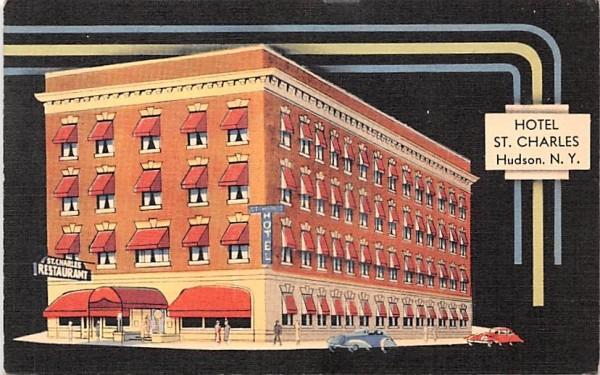 Hotel St Charles Hudson, New York Postcard