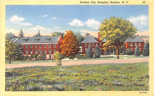 Hudson City Hospital New York Postcard