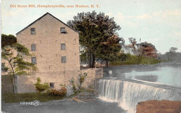 Old Stone Mill Hudson, New York Postcard