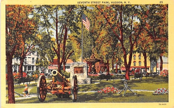Seventh Street Park Hudson, New York Postcard