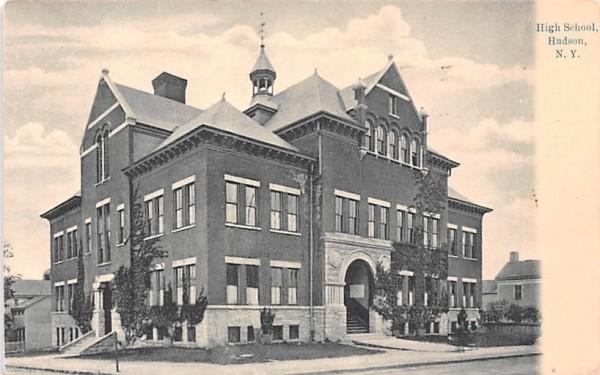 High School Hudson, New York Postcard