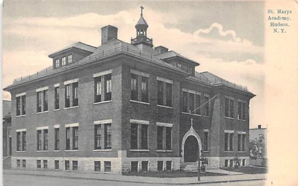 St Mary's Academy Hudson, New York Postcard