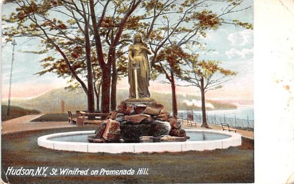 St Winifred on Promenade Hill Hudson, New York Postcard