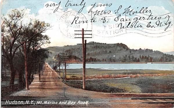 Mt Merino & Bay Road Hudson, New York Postcard