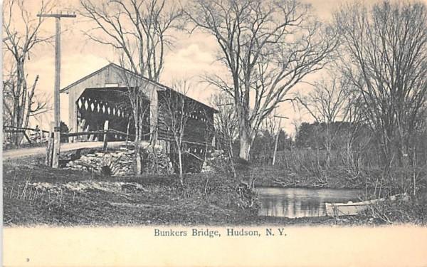 Bunkers Bridge Hudson, New York Postcard