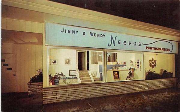 Jinny & Wendy Neefus Hudson, New York Postcard