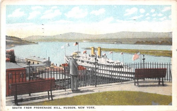 South from Promenade Hill Hudson, New York Postcard