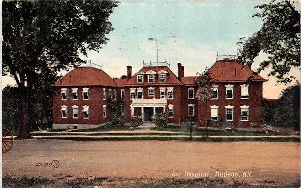 The Hospital Hudson, New York Postcard