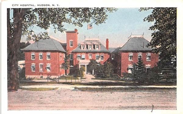 City Hospital Hudson, New York Postcard