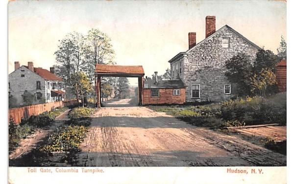 Toll Gate Hudson, New York Postcard