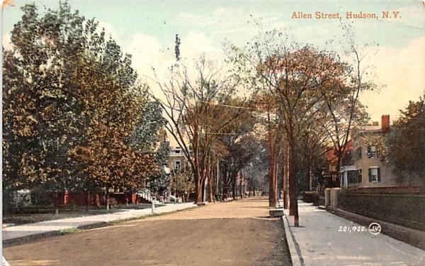 Allen Street Hudson, New York Postcard