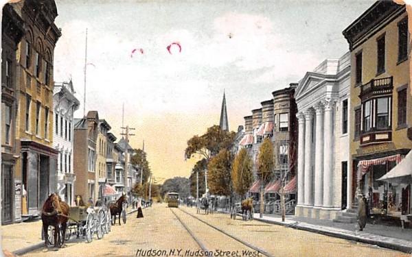 Hudson Street New York Postcard