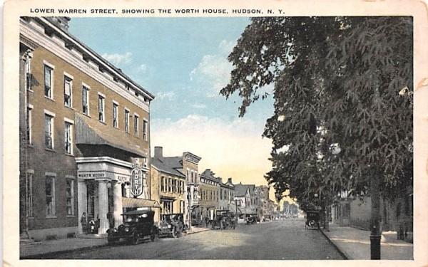Lower Warren Street Hudson, New York Postcard