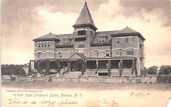 State Firemen's Home Hudson, New York Postcard