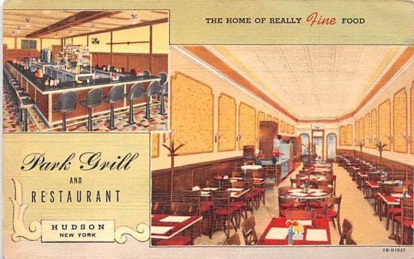 Park Grill & Restaurant Hudson, New York Postcard