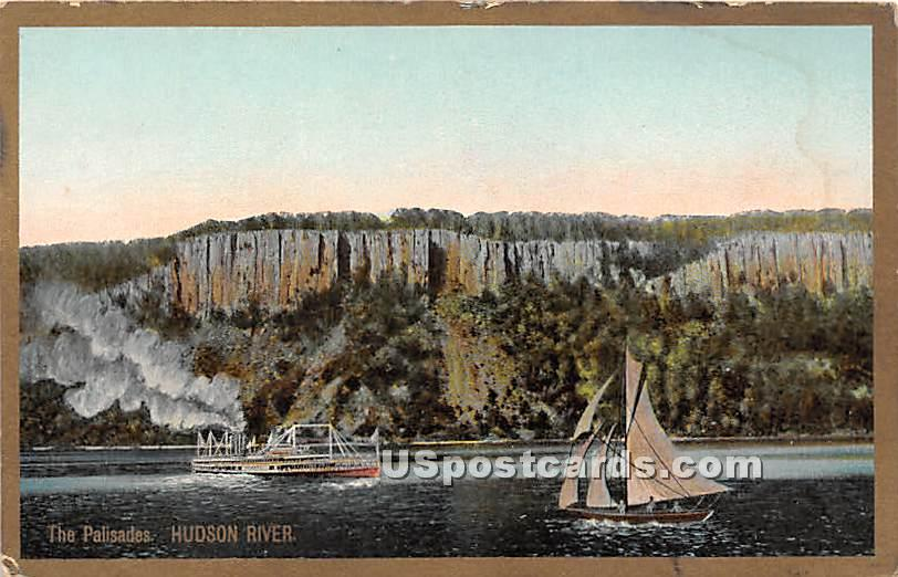 The Palisades - Hudson RIver, New York NY Postcard
