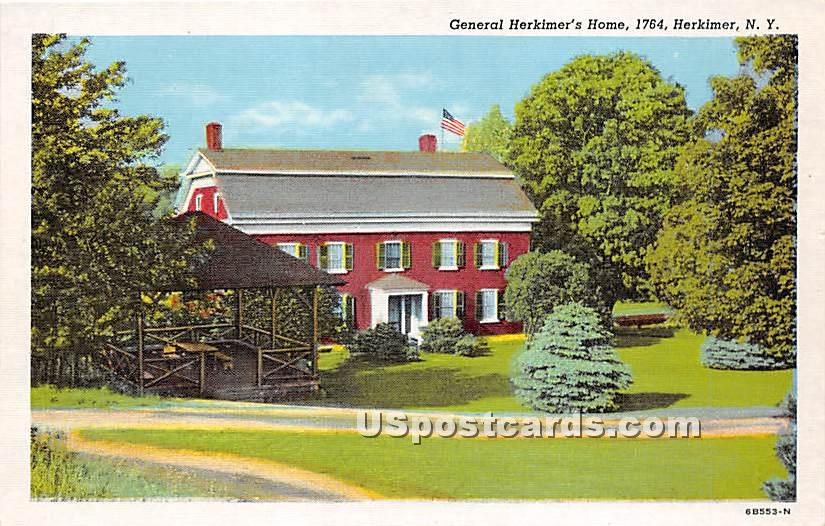 General Herkimer's Home 1764 - New York NY Postcard