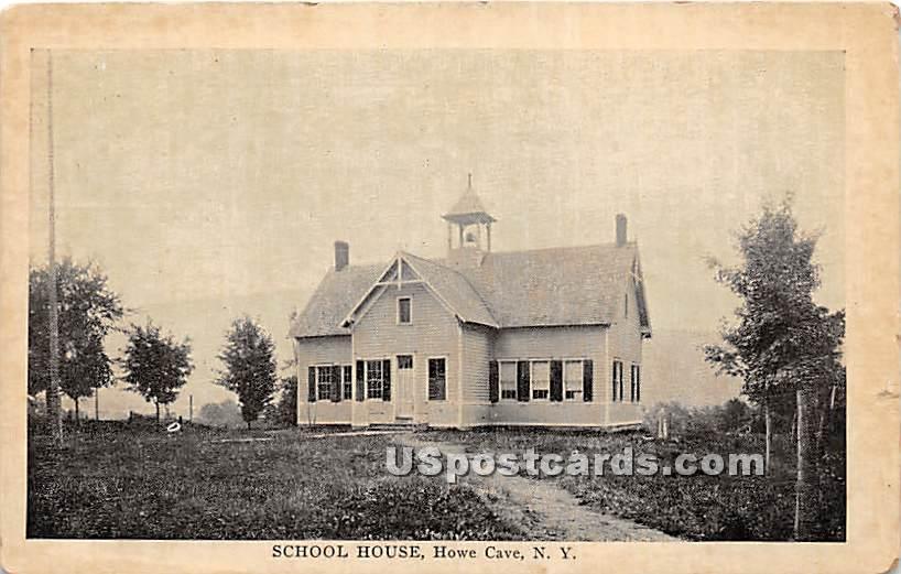 School House - Howe Caverns, New York NY Postcard