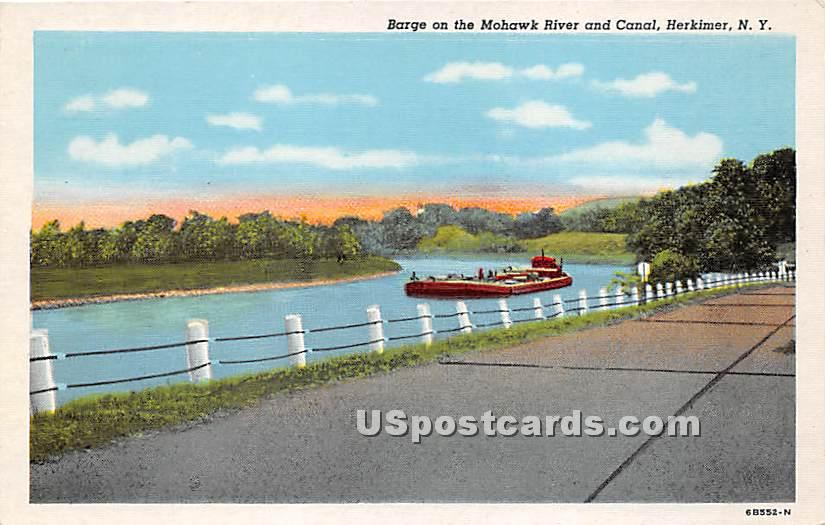 Mohawk River - Herkimer, New York NY Postcard