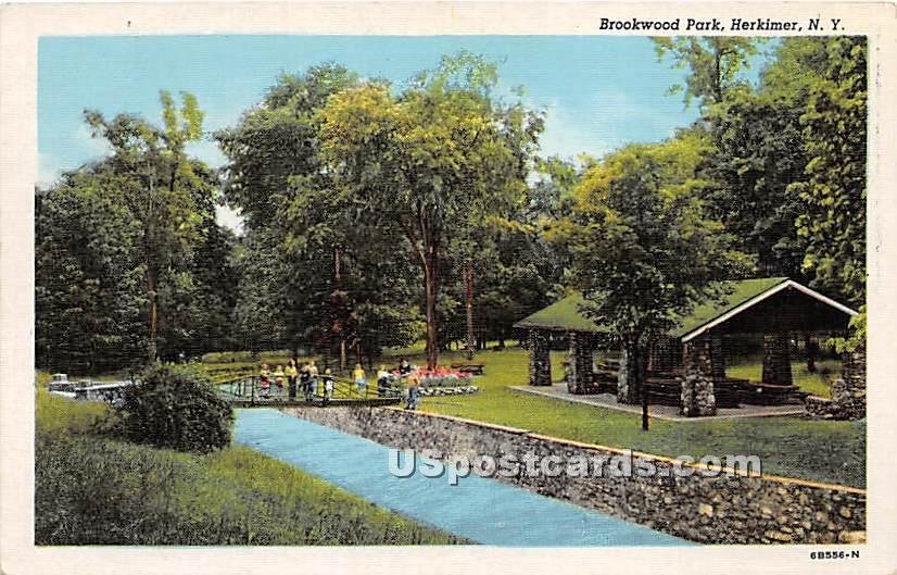 Brookwood Park - Herkimer, New York NY Postcard