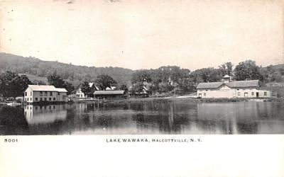 Lake Wawaka Halcottville, New York Postcard