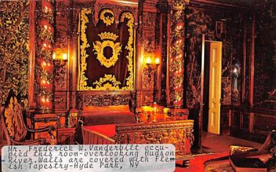 Mr Frederick W Vanderbilt Occupied this Room Hyde Park, New York Postcard