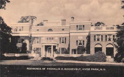 Residence of Franklin D Roosevelt Hyde Park, New York Postcard