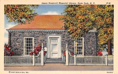 James Roosevelt Memorial Library Hyde Park, New York Postcard