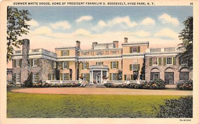 Summer White House Hyde Park, New York Postcard