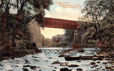 Bridge on Minisceongo Creek Haverstraw, New York Postcard