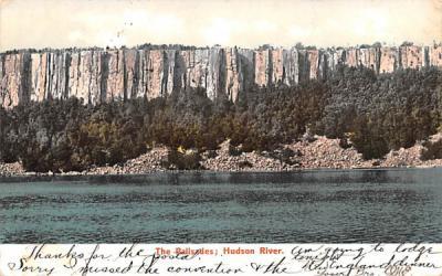 The Palisades Hudson River, New York Postcard