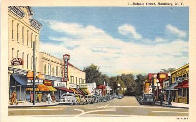Buffalo Street Hamburg, New York Postcard