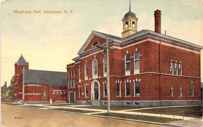 Municipal Hall Herkimer, New York Postcard