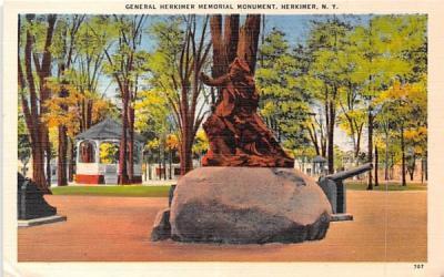 General Herkimer Memorial Monument New York Postcard