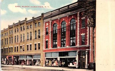 Earl Block Herkimer, New York Postcard